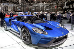 The New Ford GT Supercar. The new Ford GT 40 on show at the Geneva Motorshow, Switzerland Stock Photos