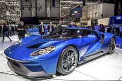 The New Ford GT Supercar. The new Ford GT 40 on show at the Geneva Motorshow, Switzerland Royalty Free Stock Image
