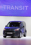 New Ford Transit. HANNOVER - SEP 20: New Ford Transit Van at the International Motor Show for Commercial Vehicles on September 20, 2012 in Hannover Germany Stock Images