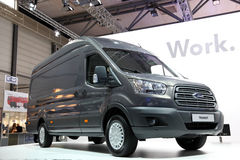 New Ford Transit Van. HANNOVER - SEP 20: New Ford Transit Van at the International Motor Show for Commercial Vehicles on September 20, 2012 in Hannover Germany Royalty Free Stock Images