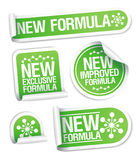 New Formula stickers. stock photography