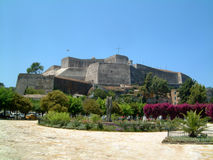 New Fort. Corfu town on a hot summer day stock photo