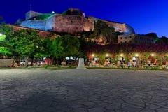 New Fortress At Night, Kerkyra, Corfu Royalty Free Stock Photography