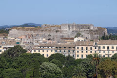 New fortress and building Corfu town Royalty Free Stock Photography