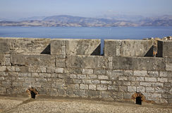 New fortress in Corfu city. Greece Royalty Free Stock Photo