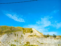 New fortress of Corfu. New fortress of Corfu is located near the port Stock Images