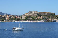 new fortress Corfu town Royalty Free Stock Image