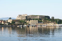The new fortress on the island of Corfu Royalty Free Stock Photo