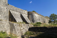 New fortress, Kerkira, Corfu. Walls of new fortress in the city of Kerkira on the island of  Corfu Stock Photos