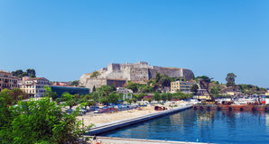 New Fortress in Kerkyra, Corfu island, Greece Royalty Free Stock Image