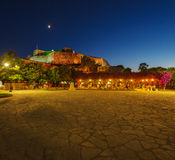 New Fortress at night, Kerkyra, Corfu island, Greece Stock Image