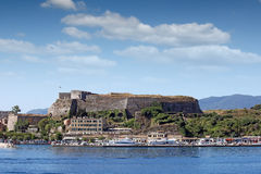New fortress and port Corfu town Royalty Free Stock Images