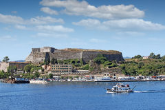 New fortress and port Corfu town Stock Image