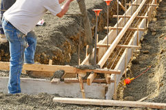 New Foundation. Pouring a foundation for a new commercial building in Roseburg Oregon Stock Photos