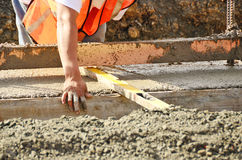 New Foundation. Pouring a foundation for a new commercial building in Roseburg Oregon Stock Photography