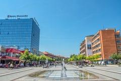 New fountain Scanderbeg Square Pristina Stock Image
