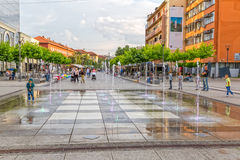 New fountain Scanderbeg Square Pristina Royalty Free Stock Image