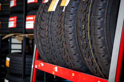 New four tires royalty free stock image