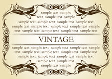 New frame vintage old ornament Royalty Free Stock Images