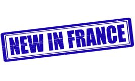 New in France. Stamp with text new in France inside,  illustration Royalty Free Stock Image
