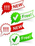 New and free tags. Royalty Free Stock Photography