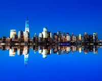 The new Freedom Tower and Lower Manhattan Skyline Stock Photos