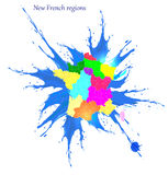 New French regions. Stock Image