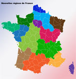 New French regions. Stock Photo