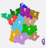 New French regions. Nouvelles regions de France. Stock Photo