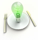 New fresh ideas for bio safe cuisine render Royalty Free Stock Photography