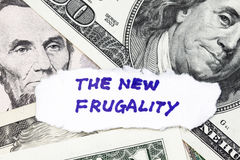 The new frugality. Closeup of  the new frugality - metaphor for the poor performance of the us dollar Stock Images