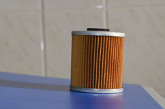 New fuel filter cartridge Stock Photography