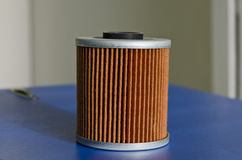 New fuel filter cartridge Royalty Free Stock Photo
