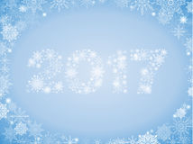 New full-color gradient background with lots of snowflakes and 2. 017 light blue Stock Photos