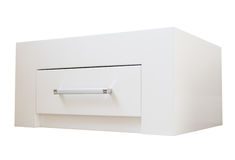 New furniture, cabinet with drawers. New furniture, bedside table with drawer, close-up royalty free stock photography