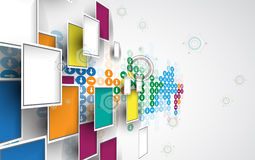 New future technology concept abstract background. For business solution Royalty Free Stock Photos
