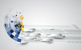 New future technology concept abstract background vector illustration