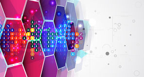 New future technology concept abstract background stock illustration