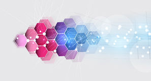 New future technology concept abstract background Stock Photography