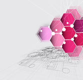 New future technology concept abstract background Royalty Free Stock Photo