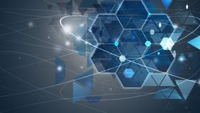 New future technology concept background concept for business solution blue. White stock illustration