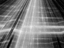 New futuristic circuit technology black and white. Computer generated abstract background, 3D rendering stock illustration