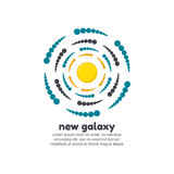 New galaxy logo template Royalty Free Stock Image