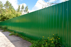 New galvanized fence Stock Image