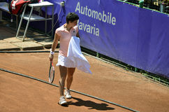 New game. Carla Suarez Navarro - semifinalist at BCR Ladies Open Romania, 18-23 July 2011 at Herastrau Tennis Academy in Bucharest Stock Photo