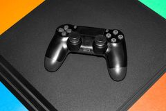 New game console. Modern game console Royalty Free Stock Photography