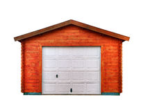 New garage. With an aluminum door on a white background Stock Images