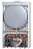 New gas boiler rear view Stock Photo