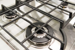 new gas burner cooker closeup Royalty Free Stock Image