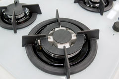 new gas burner cooker closeup Stock Photography
